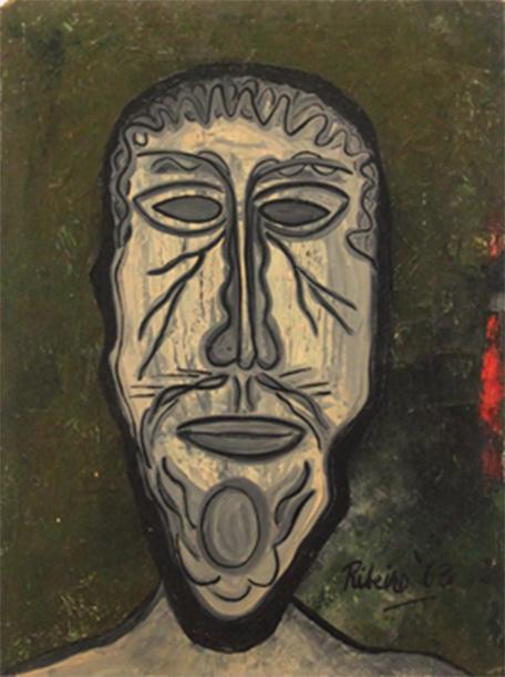Untitled, Head on Green, 1963
