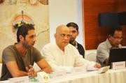 Aditya Bal NDTV's Chef, addressing the press