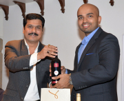 Mr. Rajesh Patil, Founder, Chairman and Managing Director launching a new selection of Pause Wines along with Mr. Ajit Balgi, Wine Connoisseur