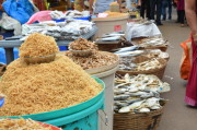 Dried fish being sold at the feast