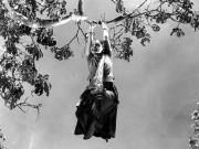 Devika Rani in an iconic scene from 'Bombay Talkies' studios classic film Durga 1939.
