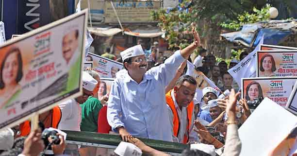 Arvind-Kejriwal-at-a-AAP-rally