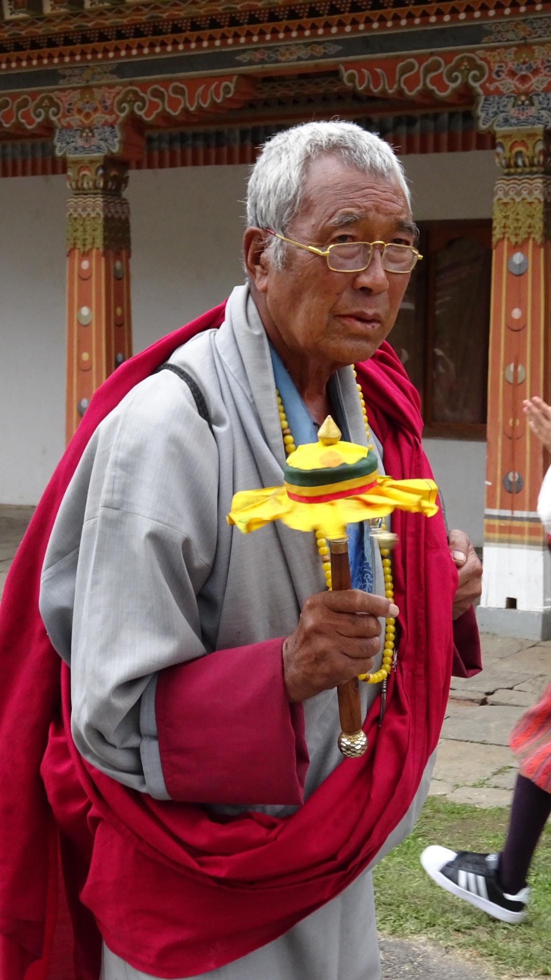 Monk at Tshechu festival copy-min